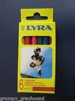 1 x Set of LYRA Mini Short Coloured Wood Pencils 6 Kids Children Laquered OSIRIS